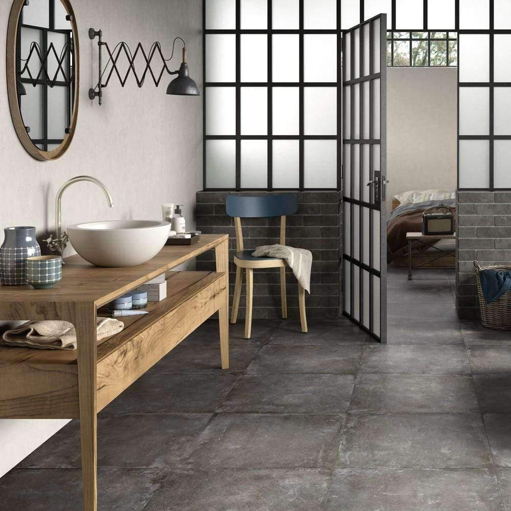 Wall-Street-Grey-Rustic-25-x-7.5-Brick-Effect-Tile