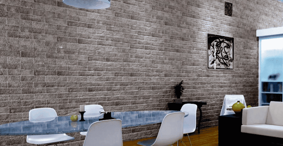 Washington Grey Rustic Brick Effect Wall Tile