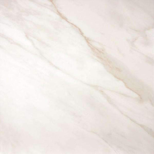 Cslactta Whites And Beiges Marble Effect Porcelain Floor tile 60cm x 60cm Gloss Finish