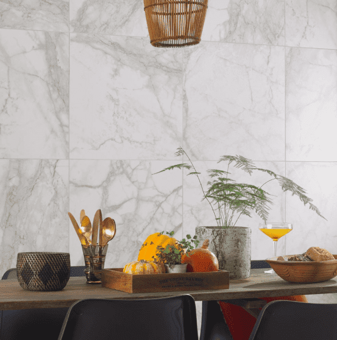 Ablo Carrara 60 x 60 Matt Marble Effect Tiles