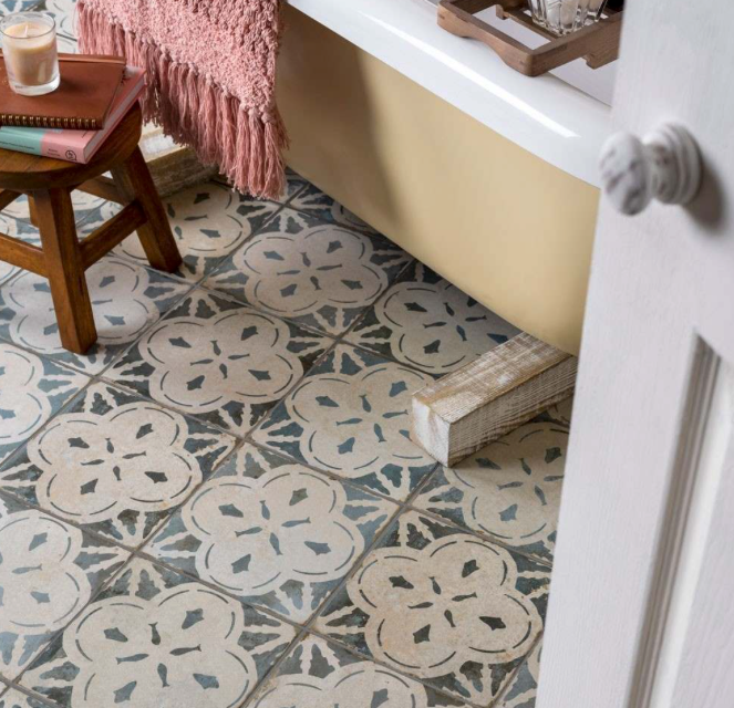 Arrow Light Blue Pattern Tiles