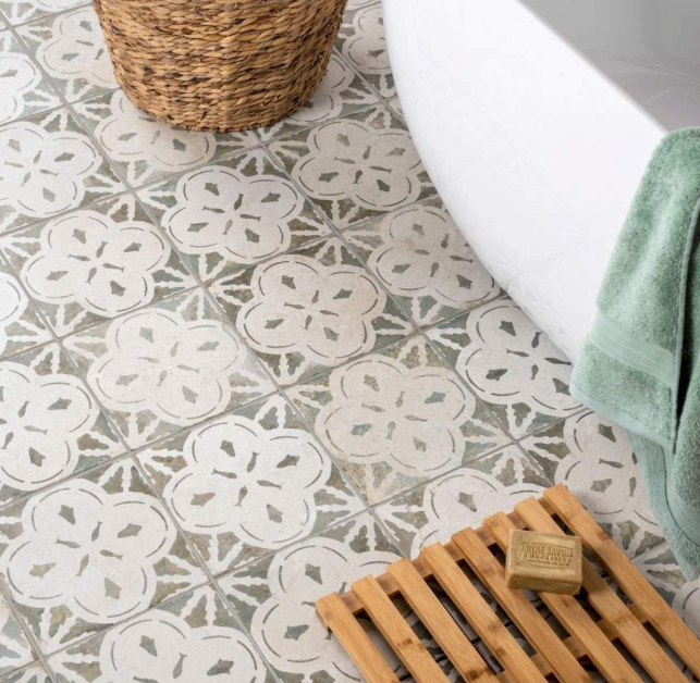 Arrow Light Sage Pattern Tiles