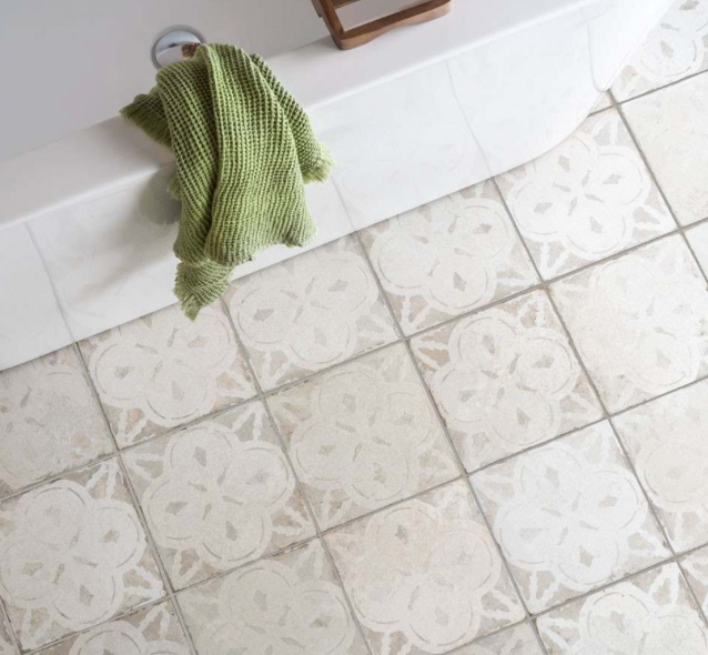 Arrow Light White Pattern Tiles