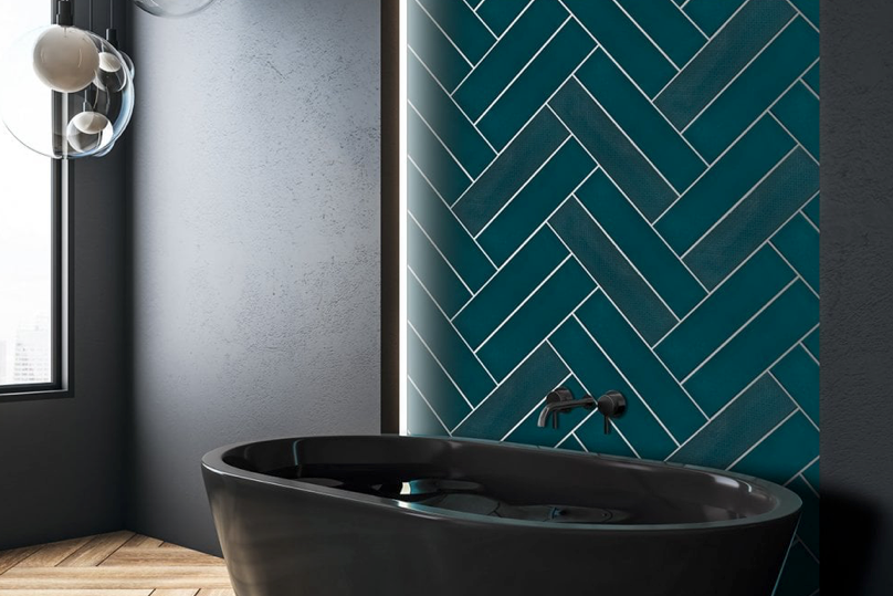 Artiste Decorative Dark Green Metro Tiles