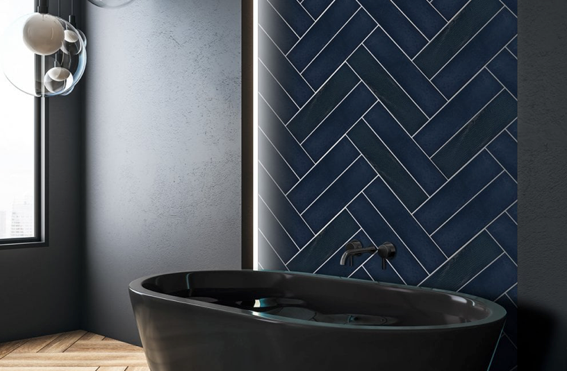 Artiste Decorative Navy Blue Metro Tiles