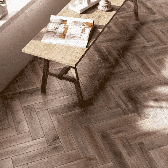 Asian Elm Wood Effect Anti-Slip Tiles