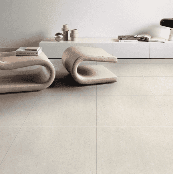 Atomic Ivory Matt 60 x 60 Concrete Effect Tile