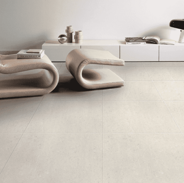 Atomic Ivory Matt Concrete Effect Tile