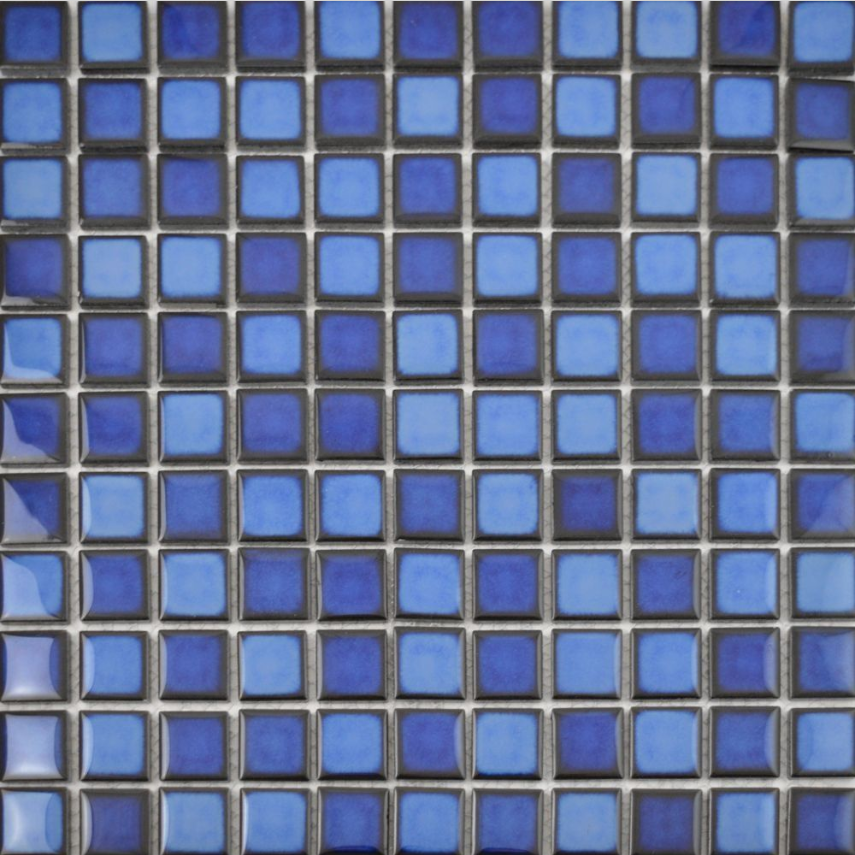 Autograph Gloss Ocean Blue Square Mini Mosaic Tiles