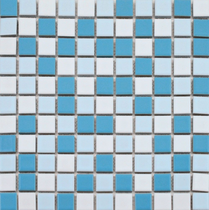 Autograph Gloss Sea Blue Blend Square Mini Mosaic Tiles