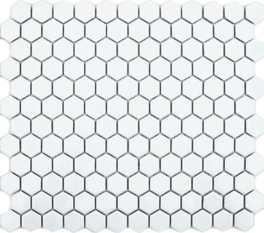 Autograph Gloss White Hexagon Mini Mosaic Tiles