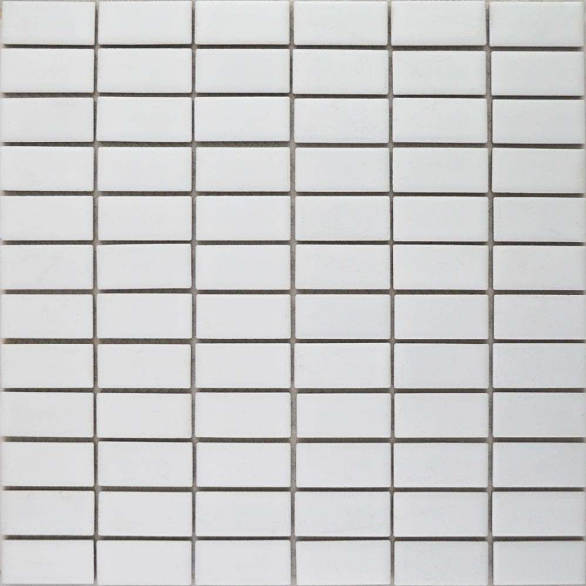 Autograph Matt White Brick Mosaic Tiles