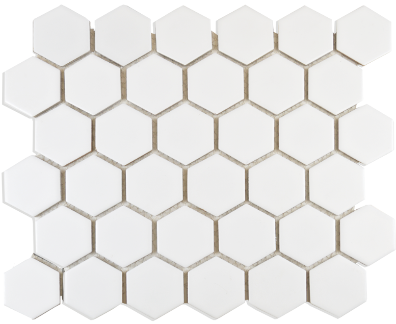 Autograph Matt White Hexagon Mosaic Tiles