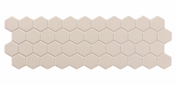 Beige Hex Mosaic Panel Tile