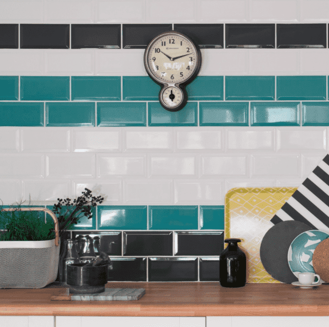 Bevelled Anthracite Metro Wall Tiles