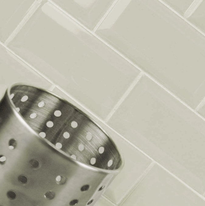 Bevelled Dove Grey Metro Wall Tiles