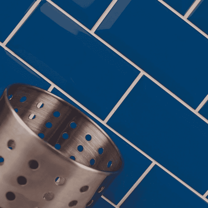 Bevelled Ocean Blue Metro Wall Tiles