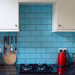 Bevelled Sky Blue Metro Wall Tiles