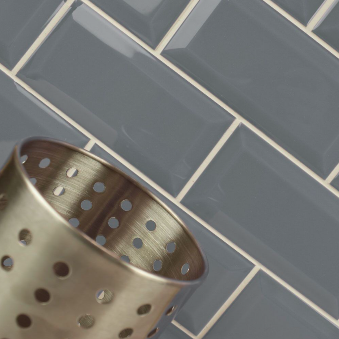 Bevelled Urban Grey Metro Wall Tiles