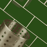 Bevelled Woodland Green Metro Wall Tiles