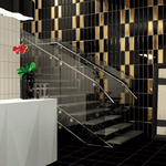 Black Bevelled 30 x 10 Metro Wall Tiles