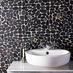 Black Forest Pebble Mosaic Tiles