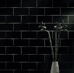 Black Gloss Smooth 20 x 10 Metro Wall Tiles