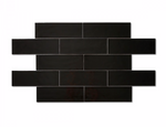 Black Soft Matt Metro Tiles
