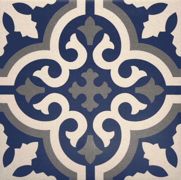 Blue Chic Vintage Pattern Tile