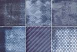 Blue Geometric Design Patterned Wall Tile