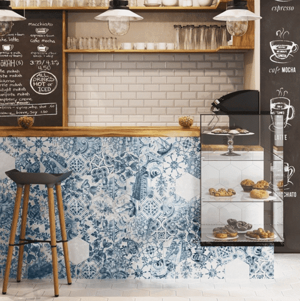 Blue Kitchen Tiles >> Blue Port Pattern Tile