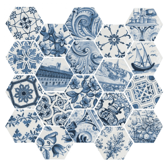 Blue Port Pattern Tile