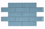 Blue Soft Glazed Metro Tiles