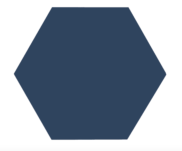 Bold Medium Dark Blue Hexagon Tiles