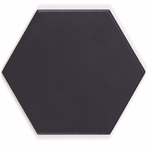 Brushed Matt Black Hexagon Tiles