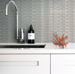 Brushed Steel Linear Mosaic Tiles