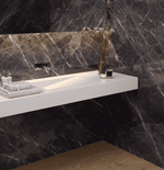 Capella Large Grey Polished 75 x 37 Marble Effect Tiles