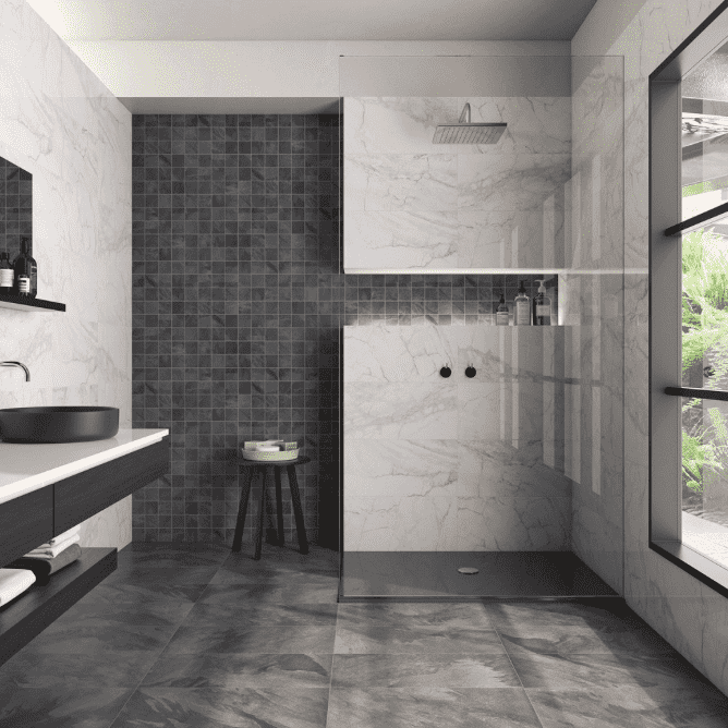 Capella Luxury Charcoal Slate Effect Tiles