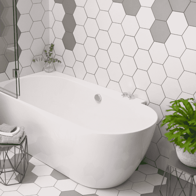 chequer-white-hexagon-tiles