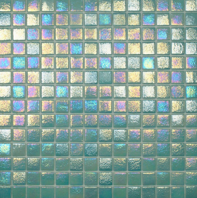 Chromaflair Teal Mix Mosaic Tiles