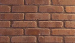 Cobble Round Edge Rustic Brown Brick Slips