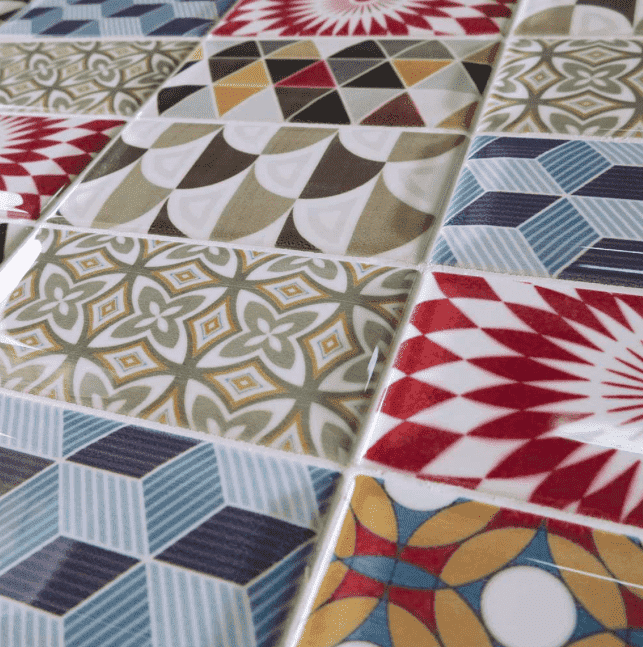 Colourful Patchwork Encaustic Metro Tile