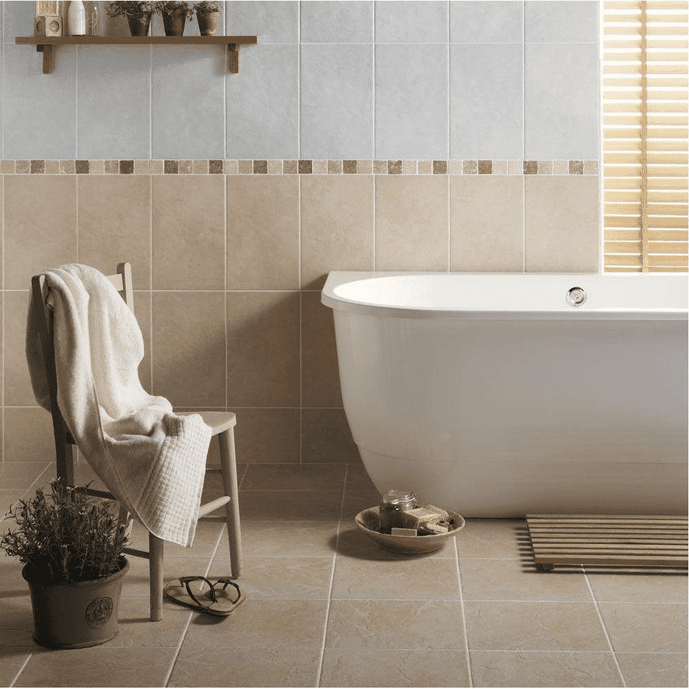 Washed Stone Effect White Tile - Appleby's Tiles