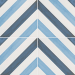 Cornwall Blue Patterned Tile