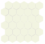 Cream Gloss Hexagon Mosaic Tiles