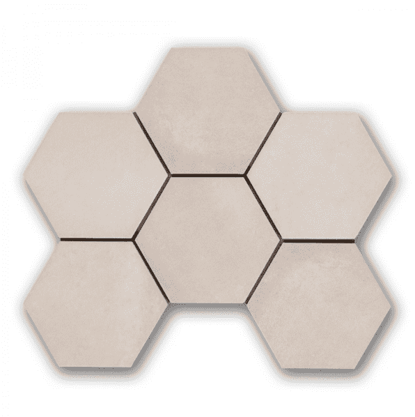 Cream Vanilla Hexagon Tiles