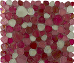 Crushed Pebble Pink Mosaic Tiles