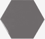 Dark Grey Gloss Hexagon Wall Tiles