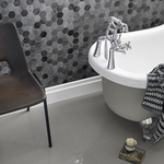 Dark Marble Hexagon Mosaic Tiles