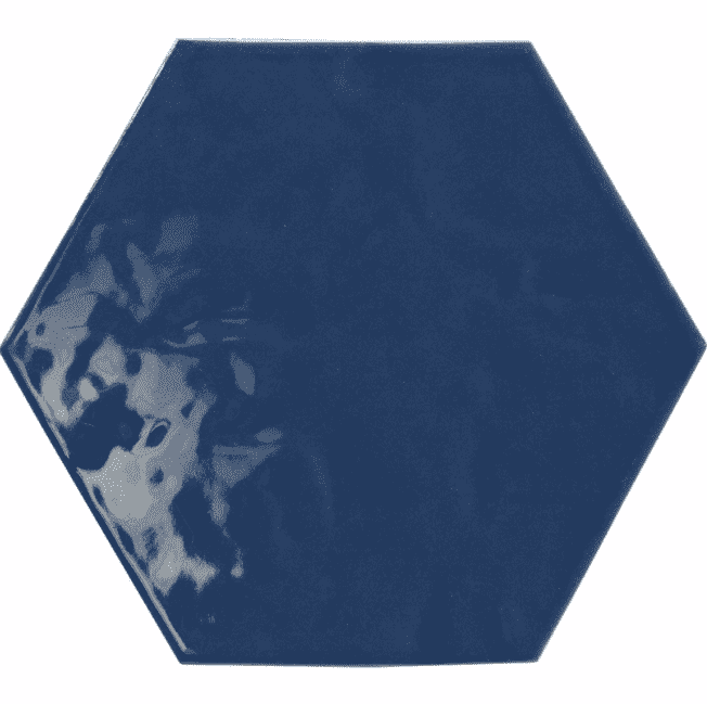 Deep Blue Hexagon Tiles
